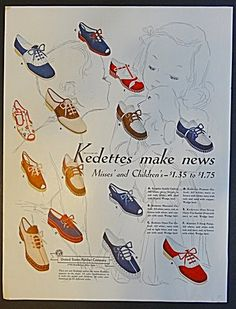 Kedettes Shoes for Misses and Children Ad - 1939