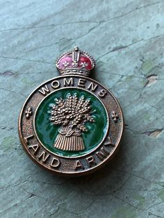 """Collectable WW2/WWII Enamel Badge """"Womens Land Army"""" Badge/Pin - 1930's-1940's. by TownshendsEmporium on Etsy"""