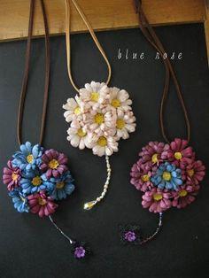 布の花~花びらの行方 * blue rose | 布花
