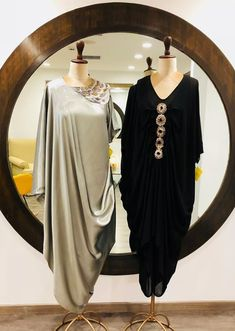 Abaya Fashion, Muslim Fashion, Fashion Wear, Indian Fashion, Fashion Dresses, Drape Gowns, Draped Dress, Indian Designer Outfits, Designer Dresses