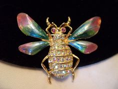 A personal favorite from my Etsy shop https://www.etsy.com/listing/210287426/graziano-brooch-insect-pin-enamel-bee