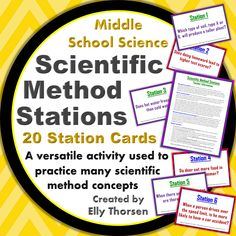 Use these stations in your middle school science classroom to practice the scientific method. My students always loved when we did stations! These stations can be reused in many different ways to practice different aspects of the scientific method.