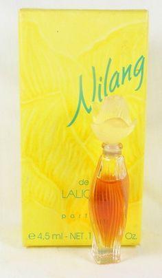 Lalique Miniature Perfume Bottle  (Nilang Parfum Mini Glass Bottles)