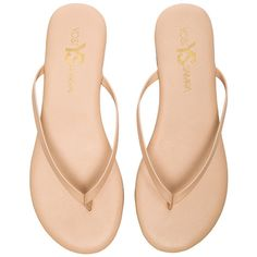 Yosi Samra Roee Flip Flop ($33) ❤ liked on Polyvore featuring shoes, sandals, flip flops, yosi samra shoes, rubber sole shoes, rubber sole sandals, yosi samra flip flops and leather upper shoes