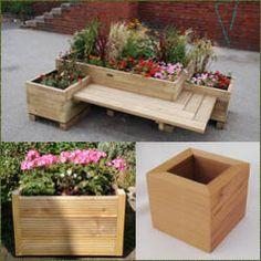 Macetas de madera: en diferentes diseños