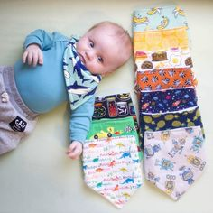 good morning from this total cutie! Look at this fabulous bibdana collection!  thanks for sharing with is @littlestone_man