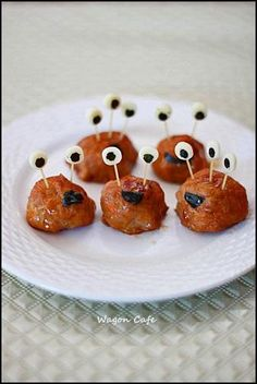 ALBONDIGAS de Halloween #ComerJugando #IdeasHalloween