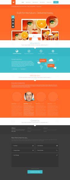 Teal and Orange - Website design layout. Inspirational UX/UI design samples. Visit us at: www.sodapopmedia.com #WebDesign #UX #UI #WebPageLayout #DigitalDesign #Web #Website #Design #Layout