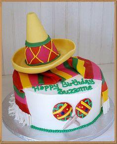 Mexican Sombrero Themed Fondant Decor Birthday Cake  Flickr Photo