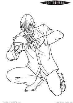 But is it an odd ood?  official BBC Doctor Who coloring page!