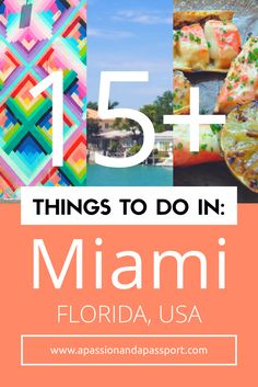 Heading off on a weekend in Miami soon and looking for things to do in Miami? We've got you covered!