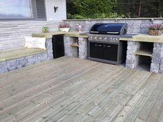 Bilderesultat for utekjøkken med tak Backyard Patio, Hygge, Outdoors, Gardening, Outdoor Decor, Kitchen, Design, Home Decor, Window Boxes