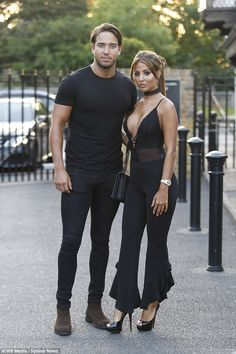 Bronzed:TOWIE's Yazmin Oukhellou and James Lock were certainly keen to show off their fresh tans on Wednesday, as they headed on a date night in their native Essex