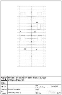 Więźba dachu domu jednorodzinnego, rzut więźby dachowej / Стропильная система дома Residential Architecture, Projects