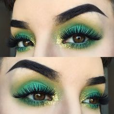 colorful green eye makeup