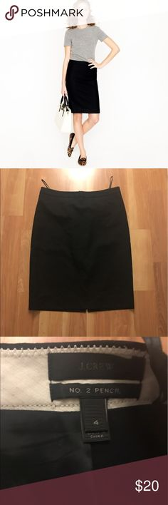 J. Crew No. 2 Pencil Skirt Sz 4 EUC No. 2 Pencil skirt size 4. Regular, not Petite nor tall. No flaws at all. This is a good basic piece for career clothing. Zipper works great. NO TRADES, cheaper through 🅿️🅿️ J. Crew Skirts