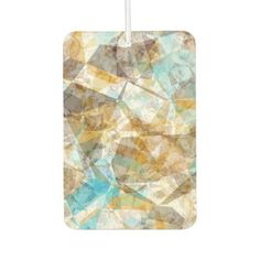Cool Funky Modern Retro Polygon Mosaic Pattern Car Air Freshener - beautiful gift idea present diy cyo