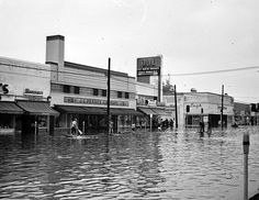 """1952-Flood Firestone Blvd., Downey, CA.   This is one of the reasons they """"concreted"""" the LA river."""