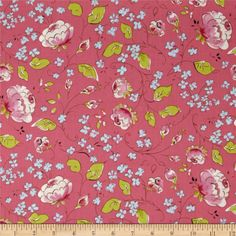 Chinoiserie Chic Chinois Rose Pink from @fabricdotcom  By Dena Designs for Free Spirit, this cotton print fabric is perfect for quilting, apparel and home decor accents. Colors include pink, green, blue, and white.
