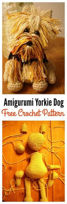 Adorable Amigurumi Yorkie Dog FREE Crochet Pattern