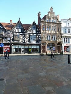 High Street from the Square, Shrewsbury, England