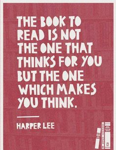 think and read. read and think