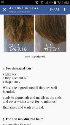 Hair Treatment Homemade Skin Care New Ideas - Hair Care Hair Growth Tips, Hair Care Tips, Damp Hair Styles, Natural Hair Styles, Natural Beauty, Homemade Hair Treatments, Beauty Hacks For Teens, Diy Hair Mask, Diy Mask