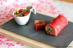 Lost in my Kitchen: Roulé de carpaccio de bœuf aux poivrons et haricots verts