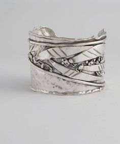 Sterling Silver Cuff Freehand design | Donald Marksz #SterlingSilverCuff #SterlingSilverCare