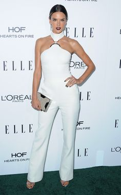 Alessandra Ambrosio from 2016 Elle Women in Hollywood Awards  The supermodel struck a confident pose in a David Koma jumpsuit.