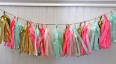 Fringe Party Banners Garland by MissHomecAmerica on Etsy, $25.00
