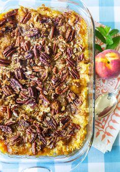 Peach Cobbler Dump Cake, Pecan Cobbler, Peach Cake, Dump Cake Recipes, Fruit Recipes, Dessert Recipes, Cooking Recipes, Dump Cakes, Frosting Recipes