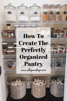 pantry organization ideas Our pantry went from chaotic and not functioning well for our family to one that is clutter free, pretty, and perfectly functional. This transformati Small Pantry Organization, Organizing Ideas, Organization Hacks, Organized Pantry, Pantry Diy, Storage Ideas For Pantry, Organize Small Pantry, Organizing Bathroom Closet, Organization Ideas For The Home