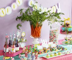 If I ever need an Easter party idea...love the carrots