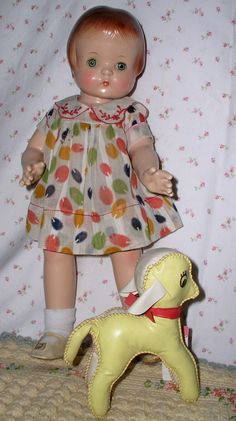 """Near MINT Effanbee 19"""" Patsy Ann Composition Doll w/ Original Outfit"""