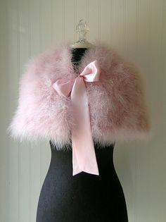 so cute! NEW HOPELESS ROMANTIC PINK FEATHERED WRAP