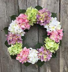 Spring Wreath Summer Wreath Hydrangea Wreath by StyletheSeasons