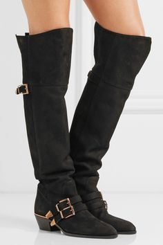 Chloé | Susanna textured-leather over-the-knee boots | NET-A-PORTER.COM