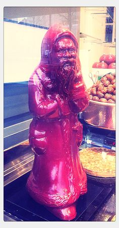 Creepy chocolate santa
