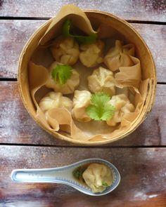 Dim Sum, Learn To Cook, Ravioli, Asian Recipes, Food Porn, Pudding, Dinner, Pierogi, Cooking