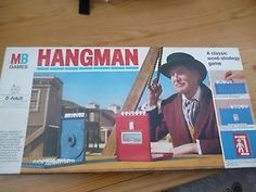Hangman board game with Uncle Vincent on the box