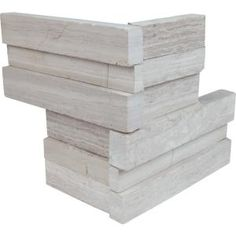 Bestow an attractive and arresting appearance to the walls with this MSI White Oak Ledger Corner Honed Marble Wall Tile. Honed Marble, Marble Wall, Marble Tiles, Marble Floor, Stone Tiles, Slate Wall Tiles, Stone Accent Walls, Thing 1, Mosaic Wall