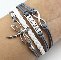 infinity bracelet love braceletDragonfly by on Etsy Dragonfly Jewelry, Wire Jewelry, Jewelery, Handmade Jewelry, Geek Jewelry, Gothic Jewelry, Jewelry Necklaces, Bracelet Love, Cute Bracelets