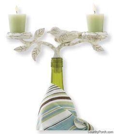Song Bird Wine Bottle Topper