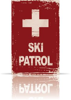 SKI PATROL POSTER 11 x 17 VintageStyle Art Print by AlpineGraphics, $20.00