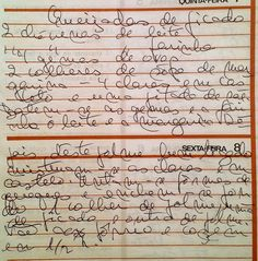 As Receitas da Avó Helena e da Avó Eduarda: Queijadas de Picado