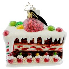 Sweet Tooth Surprise Glass Ornament