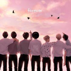 Buscando su camino juntos <3 BTS FOREVER