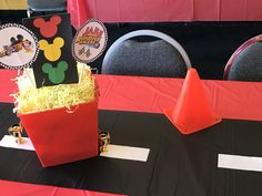 Mickey and the Roadster Racers Mickey Mouse 1st Birthday, Race Car Birthday, Cars Birthday Parties, Twin Birthday, Mickey Party, Mickey Mouse Parties, Boy First Birthday, 4th Birthday, Birthday Ideas