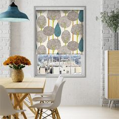 Create a fun-loving, bright and breezy space that oozes pops of colour with our Silhouette Peacock roller blind. Harlequin used 'unexpected colour combinations' with this design and we just couldn't discard this.